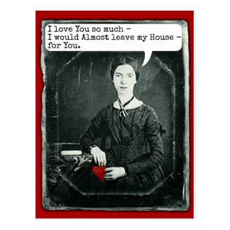 Lustiger Dichter-Emily Dickinson-Valentinstag Postkarte