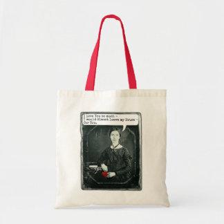 Lustiger Dichter-Emily Dickinson-Valentinstag Tragetasche