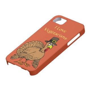 Lustiger die Erntedank-Türkei-Pilger-Vegetarier iPhone 5 Hülle