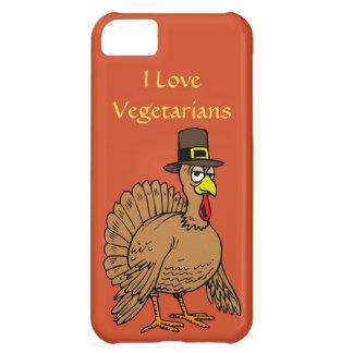 Lustiger die Erntedank-Türkei-Pilger-Vegetarier iPhone 5C Hülle