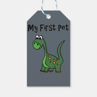 Lustiger Dinosaurier-Cartoon sagt mein erstes Geschenkanhänger