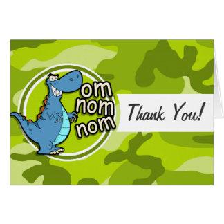 Lustiger Dinosaurier; hellgrüne Camouflage, Grußkarten