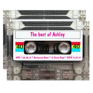 Lustiger DJ-80er Kassetten-Band-40. Geburtstag Karte