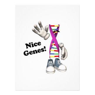 Lustiger DNS Streifen-Charakter der netten Gen- Einladungskarten