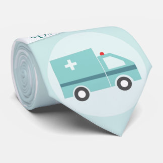 Lustiger Doktor Medical Physician Monogram Personalisierte Krawatten