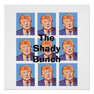 Lustiger Donald Trump das schattige Bündel-Plakat Poster