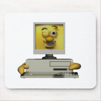 lustiger doof blinzelnder Computer Mousepads