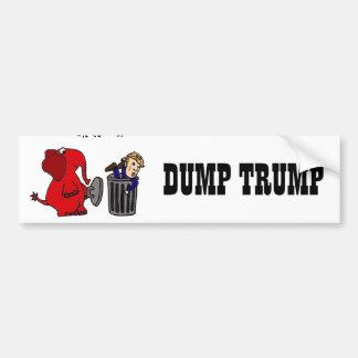 Lustiger Dump-Trumpf-politische Cartoon-Kunst Autoaufkleber