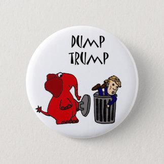 Lustiger Dump-Trumpf-politische Cartoon-Kunst Runder Button 5,7 Cm