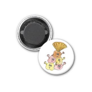 Lustiger Eiscreme-Eiscremebecher-schrullige Runder Magnet 3,2 Cm