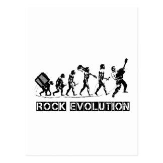 Lustiger Entwurf der Felsen-Evolution Postkarte