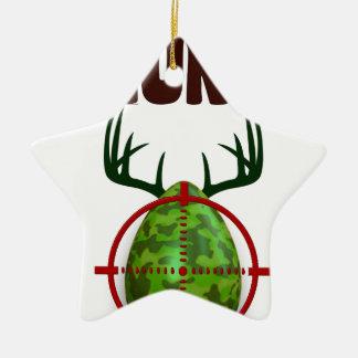 lustiger Entwurf Ostern, geboren, Rotwild zu jagen Keramik Stern-Ornament