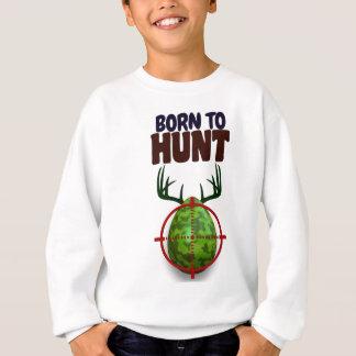 lustiger Entwurf Ostern, geboren, Rotwild zu jagen Sweatshirt