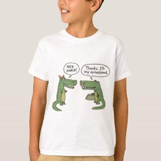 Lustiger ex Ehemann-Alligatorgeldbeutel T-Shirt