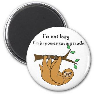 Lustiger fauler Sloth-Cartoon Runder Magnet 5,7 Cm