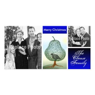 Lustiger Feiertags-Foto-Schablonen-WeihnachtsSpaß Karte