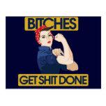 Lustiger feministischer Spaß Postkarte