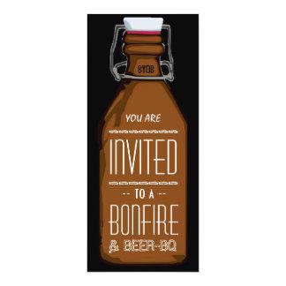 Lustiger Feuer u. Bier BQ-Grill-Verlobungs-Party 10,2 X 23,5 Cm Einladungskarte