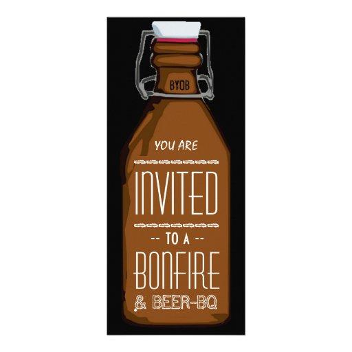 Lustiger Feuer u. Bier BQ-Grill-Verlobungs-Party Einladungskarte