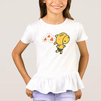 lustiger Flusspferdkindertier-Cartoon T-Shirt