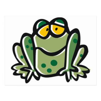 Lustiger Frosch-Cartoon Postkarte