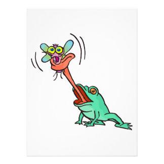 lustiger Frosch fängt eine Fliege Einladungskarte