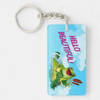 Lustiger Frosch-Prinz, hallo schöner Schlüsselring
