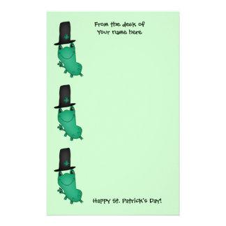 Lustiger Frosch St. Patricks Tages Briefpapier