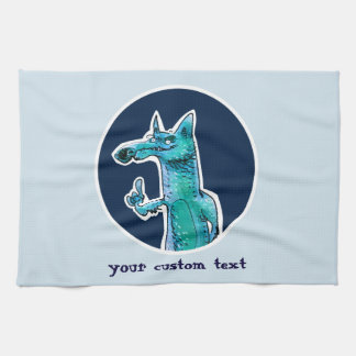 lustiger Fuchs gibt Rat zu uns Cartoon Handtuch