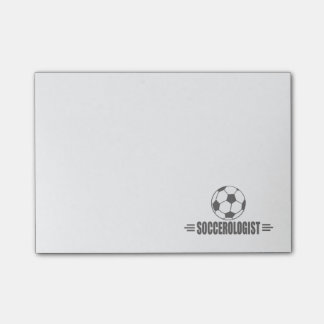 Lustiger Fußball Post-it Klebezettel