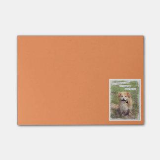 Lustiger Gangsterhund Post-it Haftnotiz