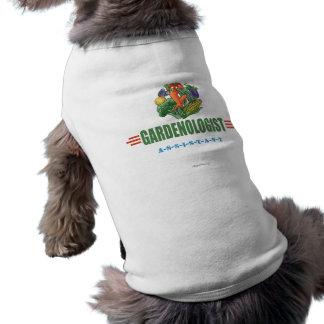 Lustiger Gärtner Ärmelfreies Hunde-Shirt