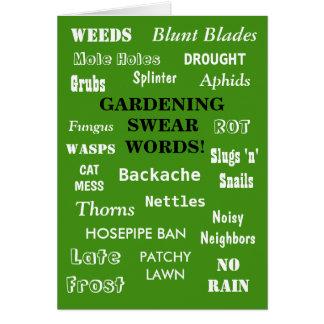 Lustiger Gärtner-Geburtstags-Witz-im Garten Karte