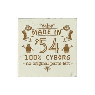Lustiger GeburtstagCyborg mit kundengerechtem Jahr Steinmagnet