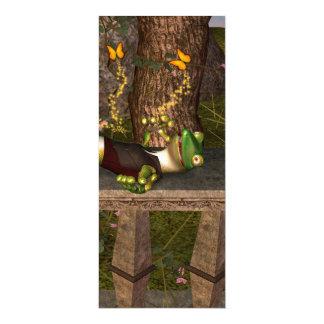 Lustiger Gecko 10,2 X 23,5 Cm Einladungskarte