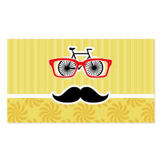 Lustiger gelber Hipster Visitenkarten