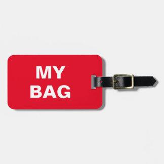 """Lustiger Gepäckanhänger mit """"meiner Tasche"""""""