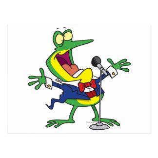 lustiger Gesang Froggy-Frosch-Cartoon Postkarte