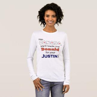 Lustiger Geschäftsdonald für Justinantitrumpf-T - Langarm T-Shirt
