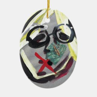 Lustiger Gesichtsdruck Keramik Ornament