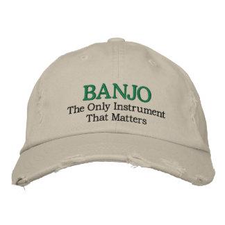 Lustiger gestickter Banjo-Musik-Hut Bestickte Mützen