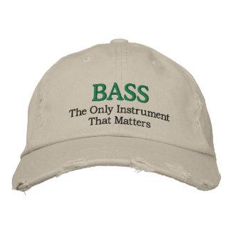 Lustiger gestickter Bass-Musik-Hut Baseballkappe