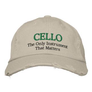 Lustiger gestickter Cello-Musik-Hut Bestickte Caps