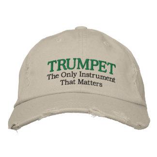 Lustiger gestickter Trompete-Musik-Hut Baseballkappe