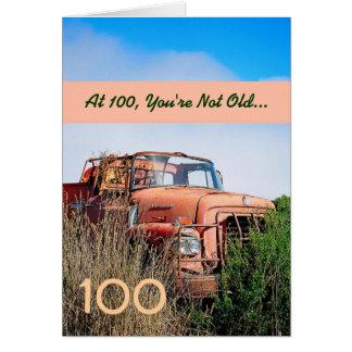 LUSTIGER glücklicher 100. Geburtstag - Vintager Karte