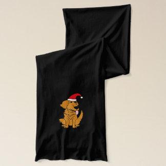 Lustiger goldener Retriever-Hund im Schal