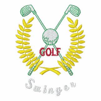 Lustiger Golf-Logo-lebenslustiger Typ gestickt Besticktes Polohemd