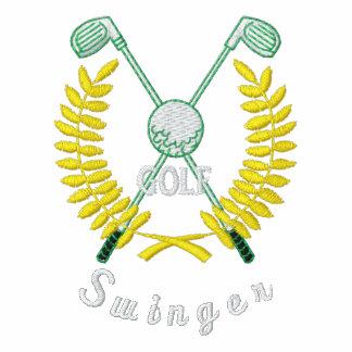 Lustiger Golf-Logo-lebenslustiger Typ gestickt Polo Shirt