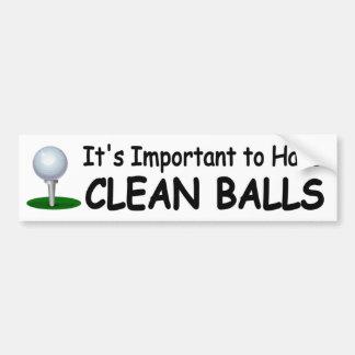 lustiger Golfaufkleber wichtig, saubere Bälle zu Autoaufkleber