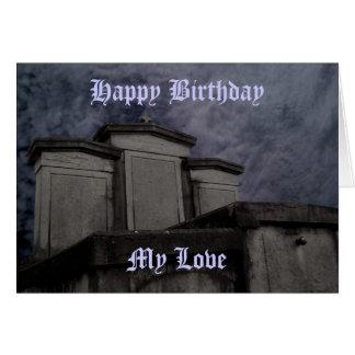 Lustiger gotischer Friedhof Geburtstag Grußkarte